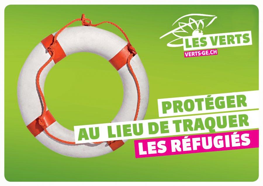 Réfugiés visuel vert